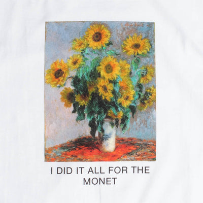 LOVE OF MONET white graphic tee