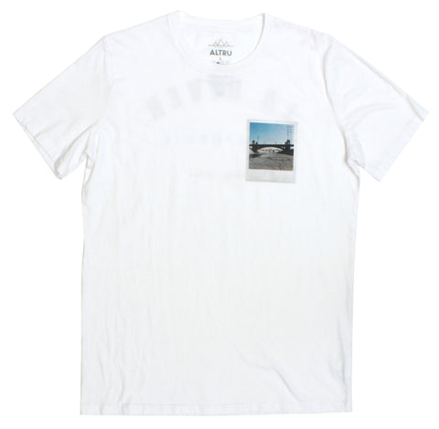 LA River on Polaroid t-shirt front