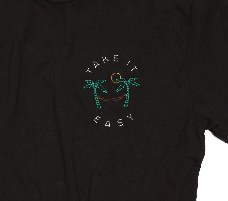 Take It Easy Hammock Embroidery Tee by Altru Apparel