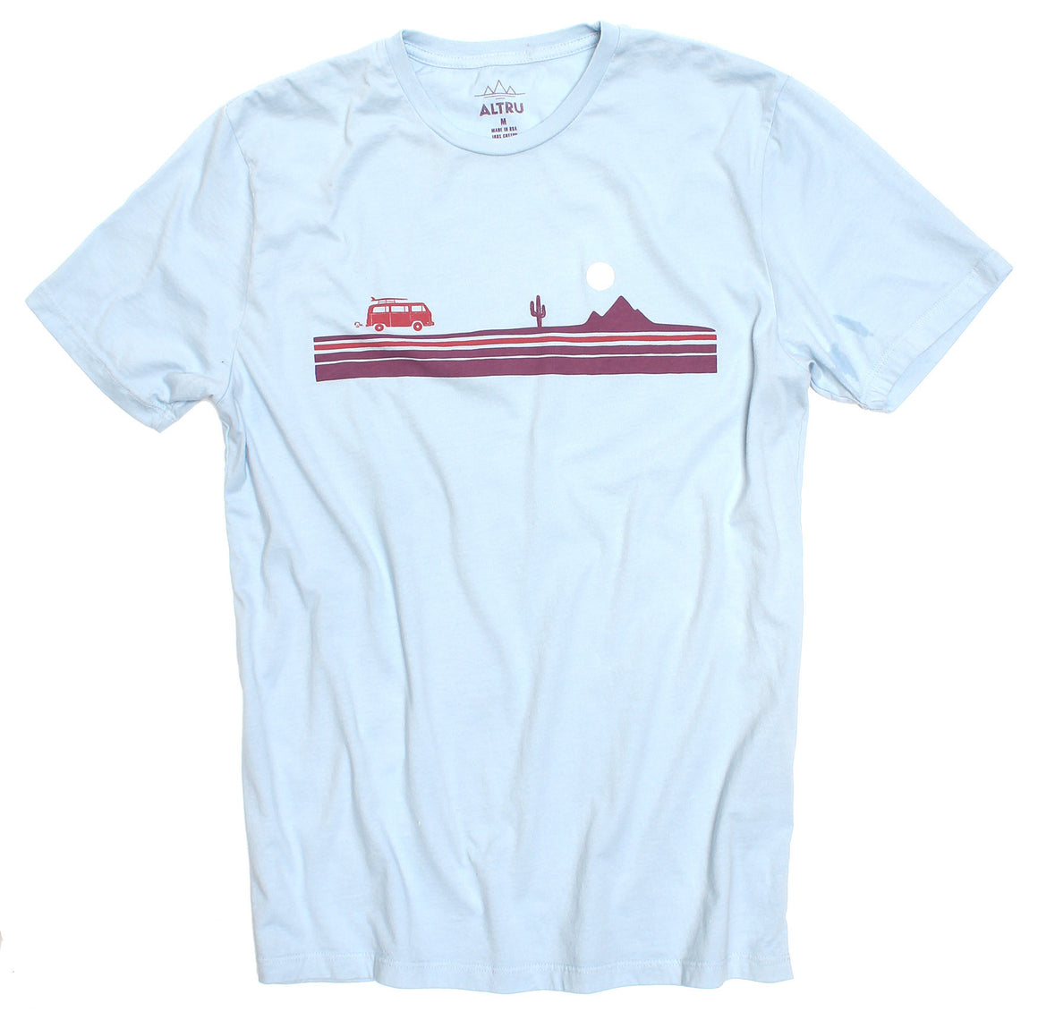Altru Apparel Road Trip Chest Stripe Pale Blue Tee