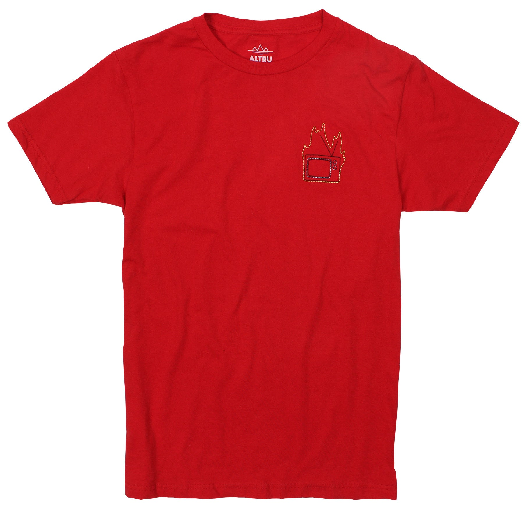 1245197ec Burn Your TV embroidered T-Shirt by Altru Apparel