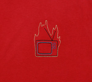 Burn Your TV embroidered T-Shirt by Altru Apparel detail photo