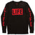 LIFE Logo L/S black T-shirt by Altru Apparel