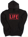 LIFE Box Logo Pull-Over Black Terry Hoodie by Altru Apparel