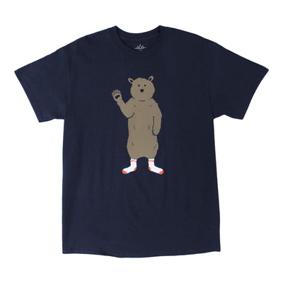 BEAR IN SOCKS short sleeve navy tee by Altru Apparel