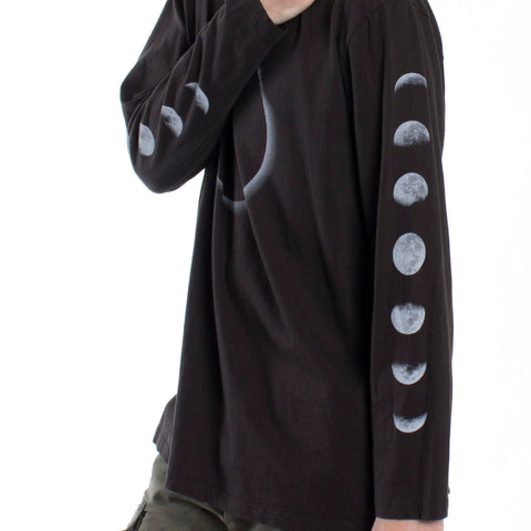 Lunar Eclipse with Moon Phases long sleeve shirt by Altru Apparel 2