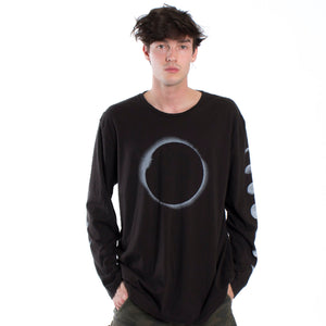 Lunar Eclipse with Moon Phases long sleeve shirt by Altru Apparel