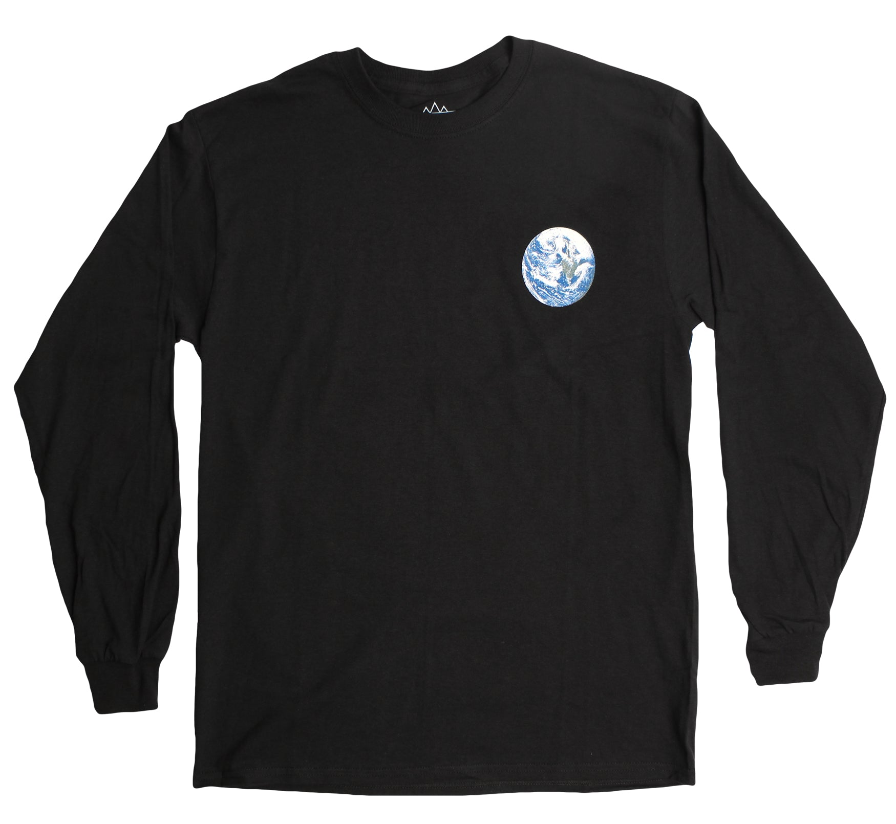 Astronaut Over Earth L/S black T-shirt by Altru Apparel
