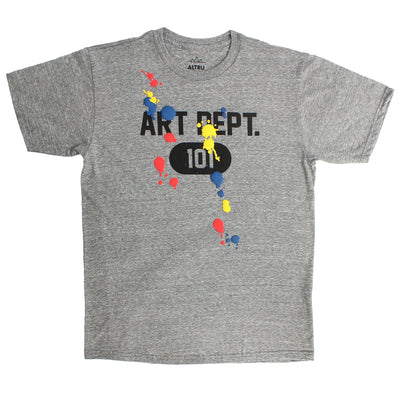 Art Dept. 101 Puffy Paint Splats Fun Graphic T-shirt