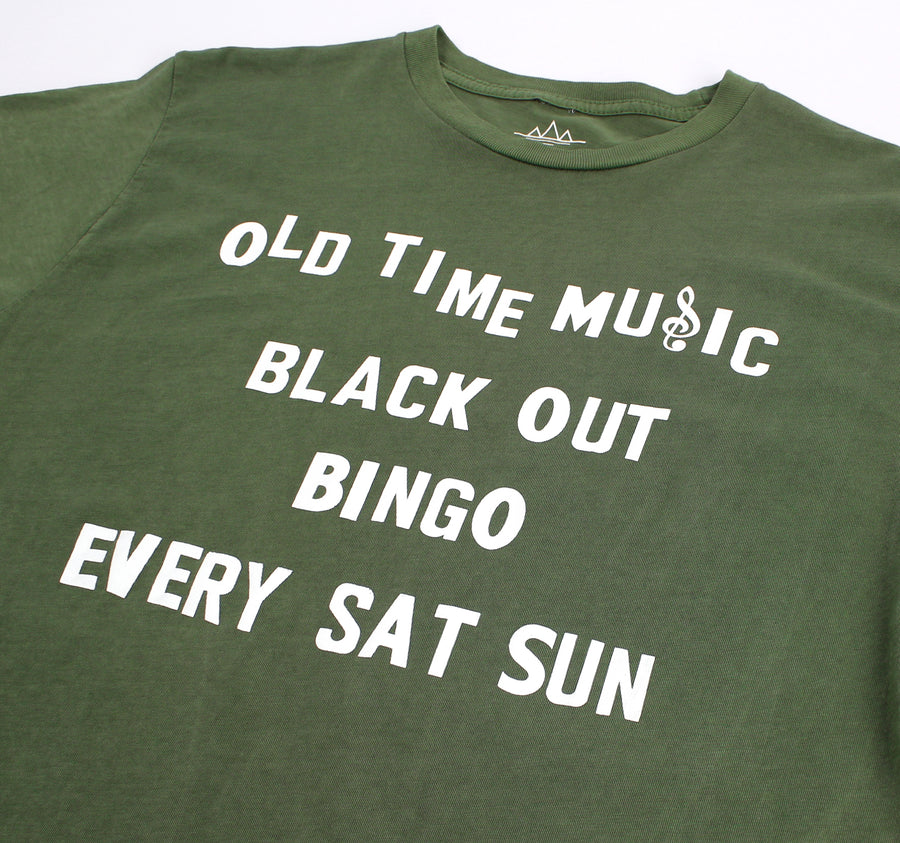Old Time Music Blackout green T-shirt by Altru Apparel