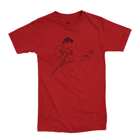 Elvis Embroidery red T-shirt by Altru Apparel
