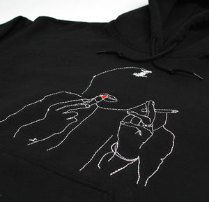 Kate Embroidered pull-over black hoodie by Altru Apparel