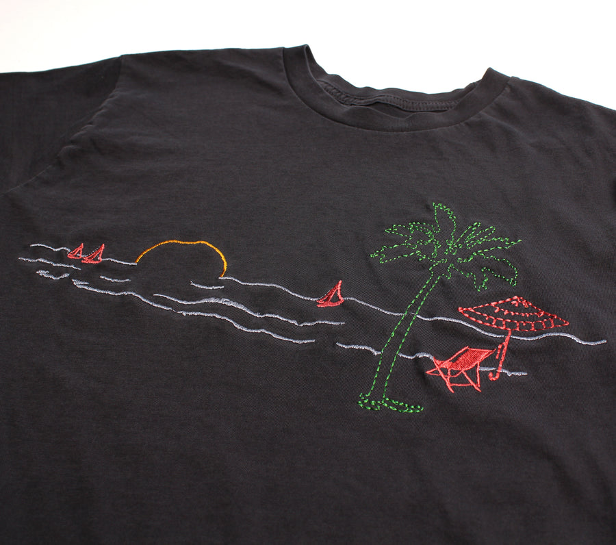 Beach Vacation Paradise Embroidered graphic tee by Altru Apparel