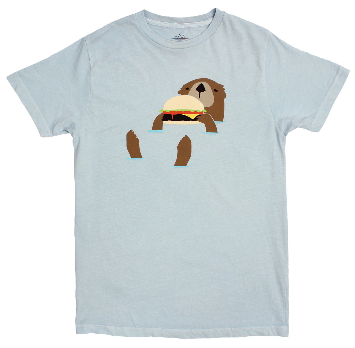 Otter eating a hamburger graphic tee by altru apparel