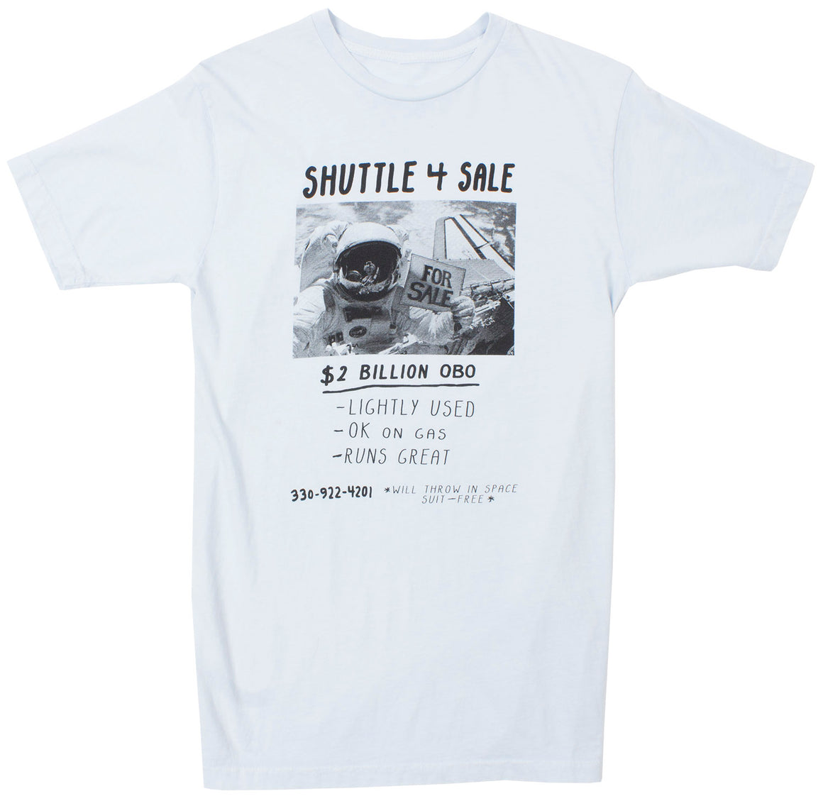 Shuttle 4 Sale, slate blue graphic Tee by Altru Apparel