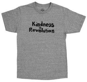 Kindness is Revolution, gray graphic tee by Altru Apparel