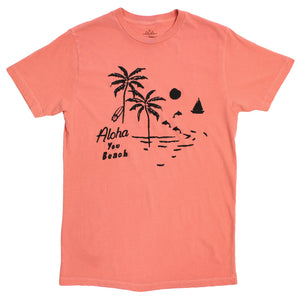 aloha you beach graphic tee by altru apparel