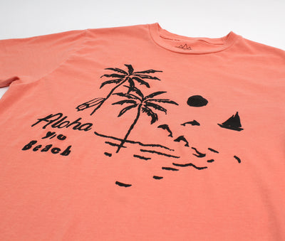 aloha you beach palm trees graphic tee by altru apparel