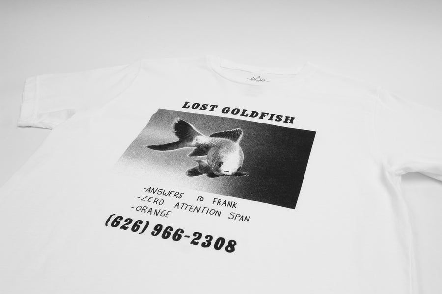 help find lost goldfish graphic tee by Altru Apparel