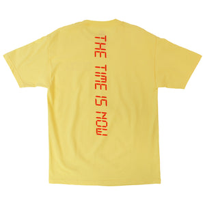 The Time Is Now yellow graphic tee by Altru Apparel back