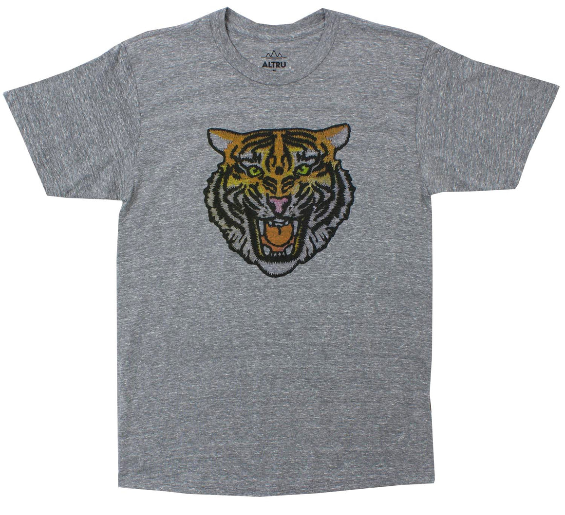 Angry Tiger Graphic Tee in Grey by Altru Apparel