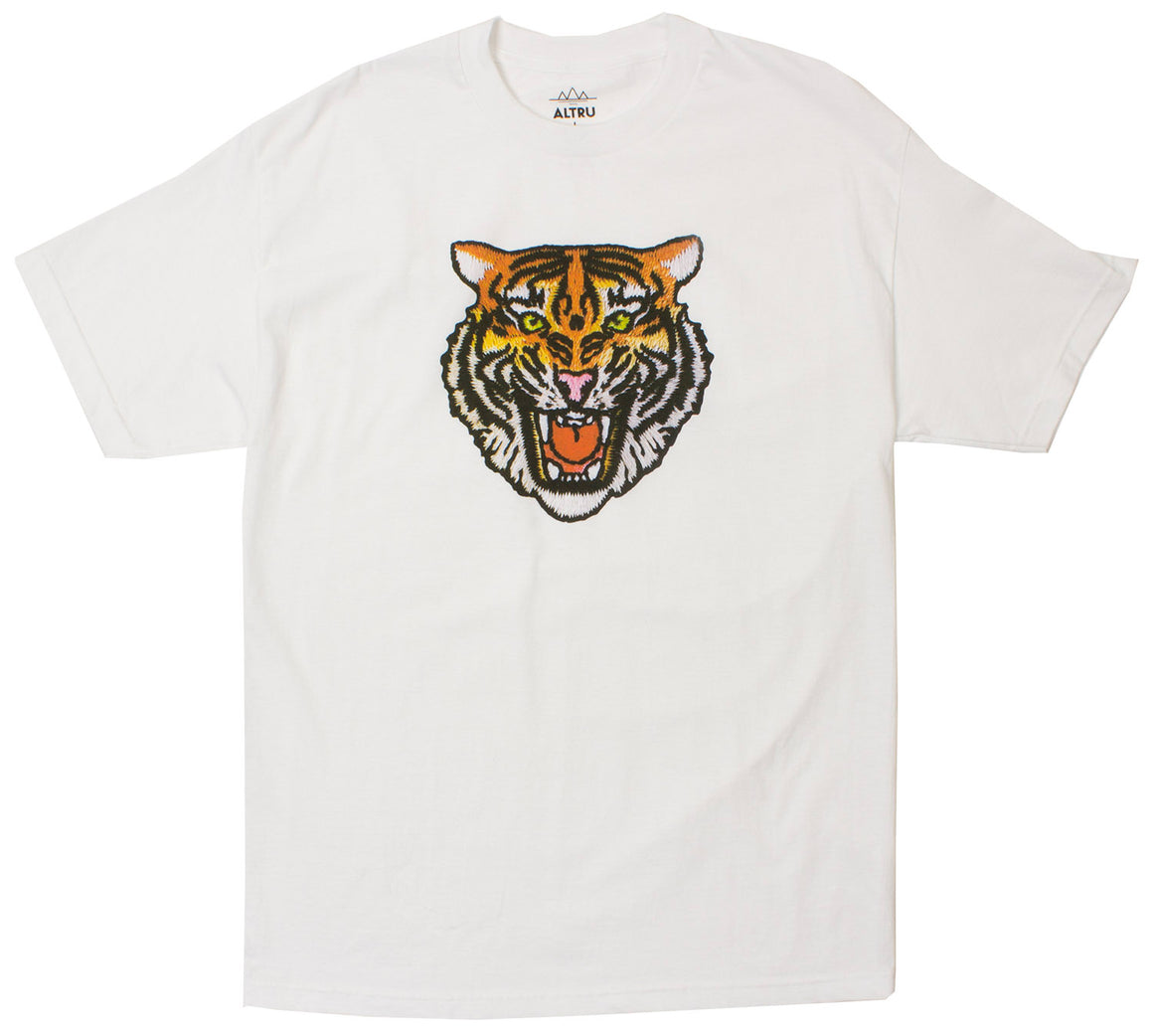 Angry Tiger Graphic Tee in White by Altru Apparel