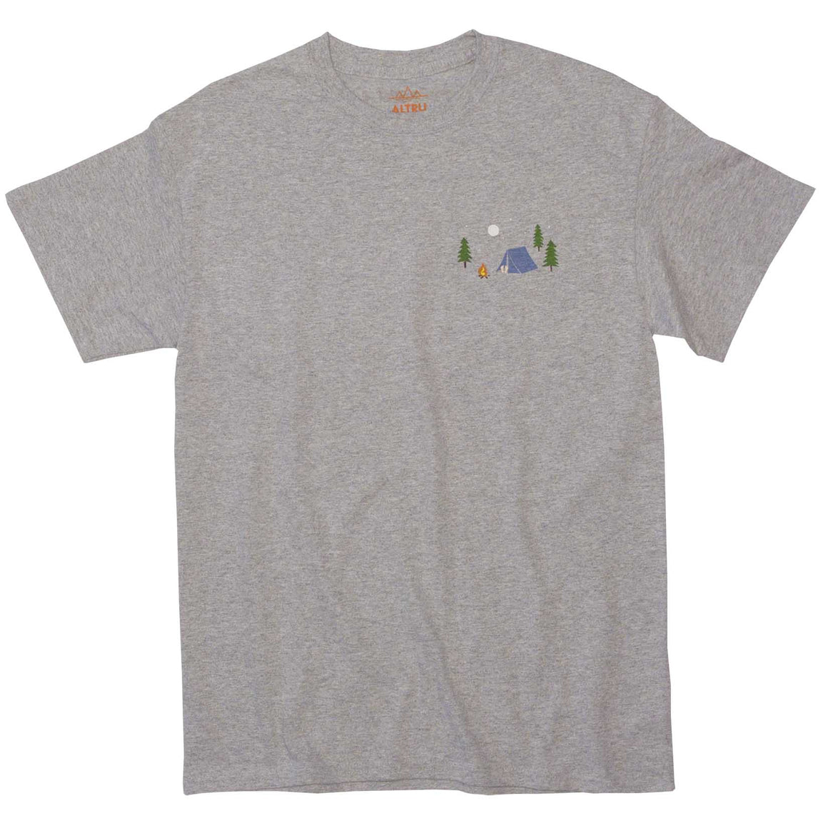 Campsite with fire pit graphic tee graphic tee.