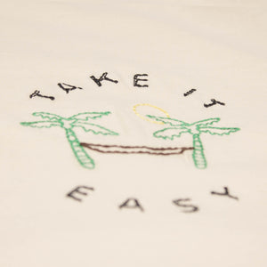 Embroidered palm trees hammock mens graphic tee by Altru image detail 1