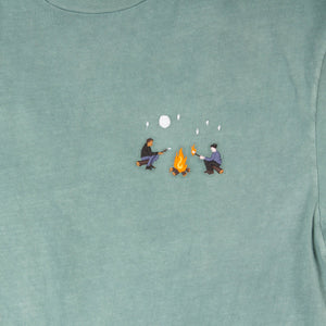 Marshmallow Roasting embroidered graphic tee by Altru image front detail