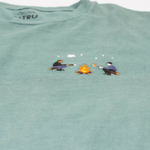 Marshmallow Roasting embroidered graphic tee by Altru image detail 2