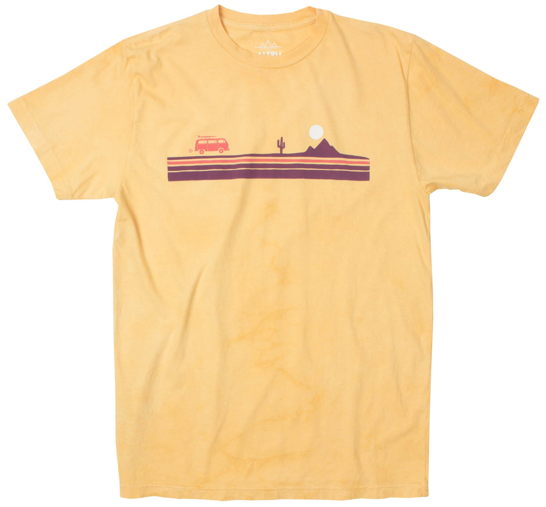 308aeaef Desert Stripe Road Trip yellow cloud dye graphic tee by Altru Apparel.  Quick Shop