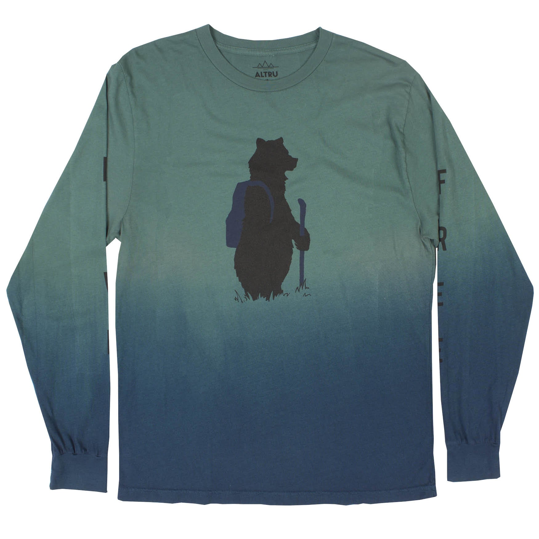 a hiking bear graphic tee by Altru Apparel front