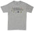 No Service No Problem mens gray graphic tee by Altru Apparel front image