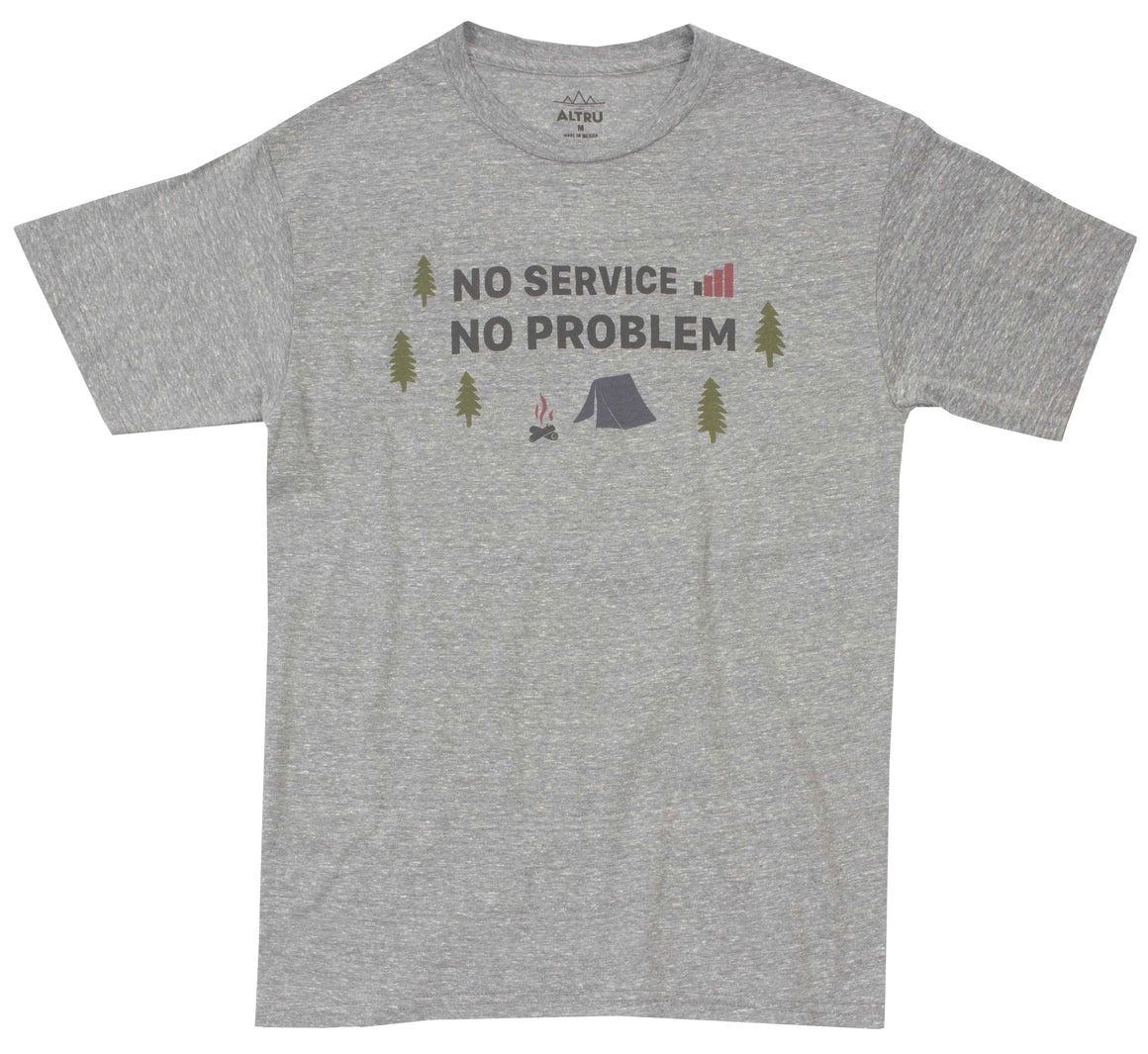 908299d2 No Service No Problem mens gray graphic tee by Altru Apparel front image