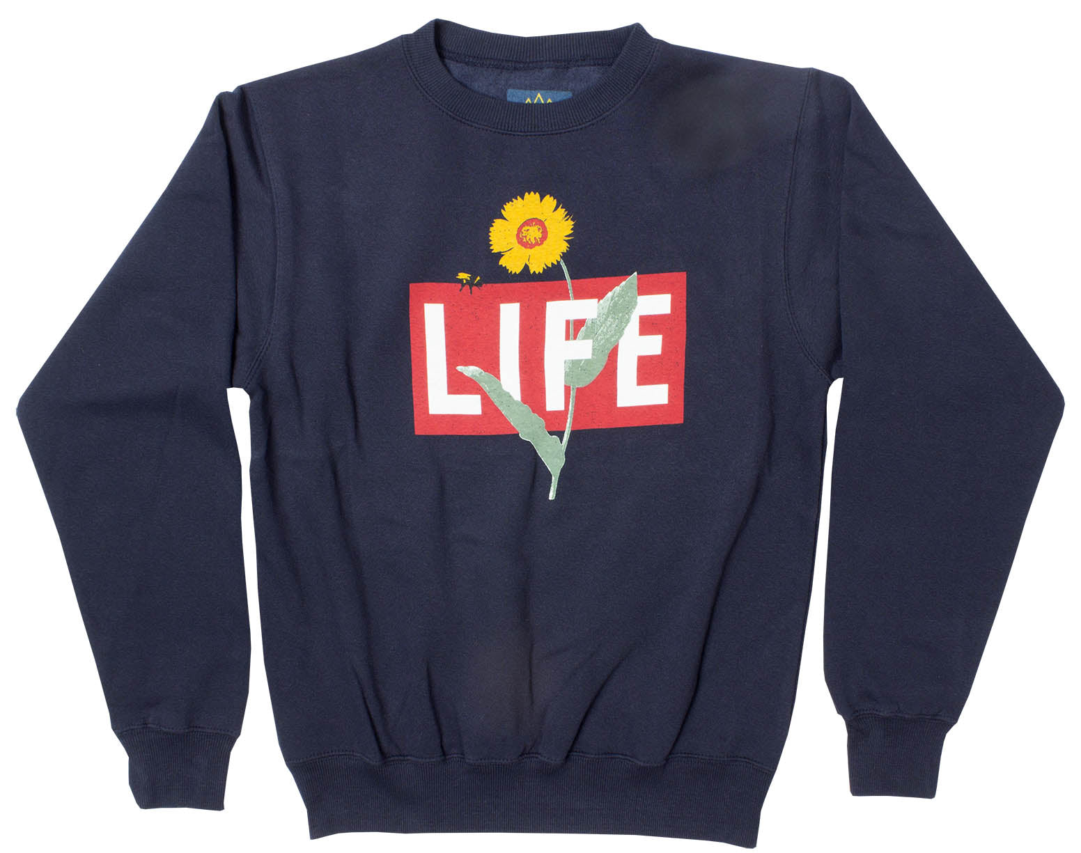 LIFE Logo Box with Flower navy sweatshirt