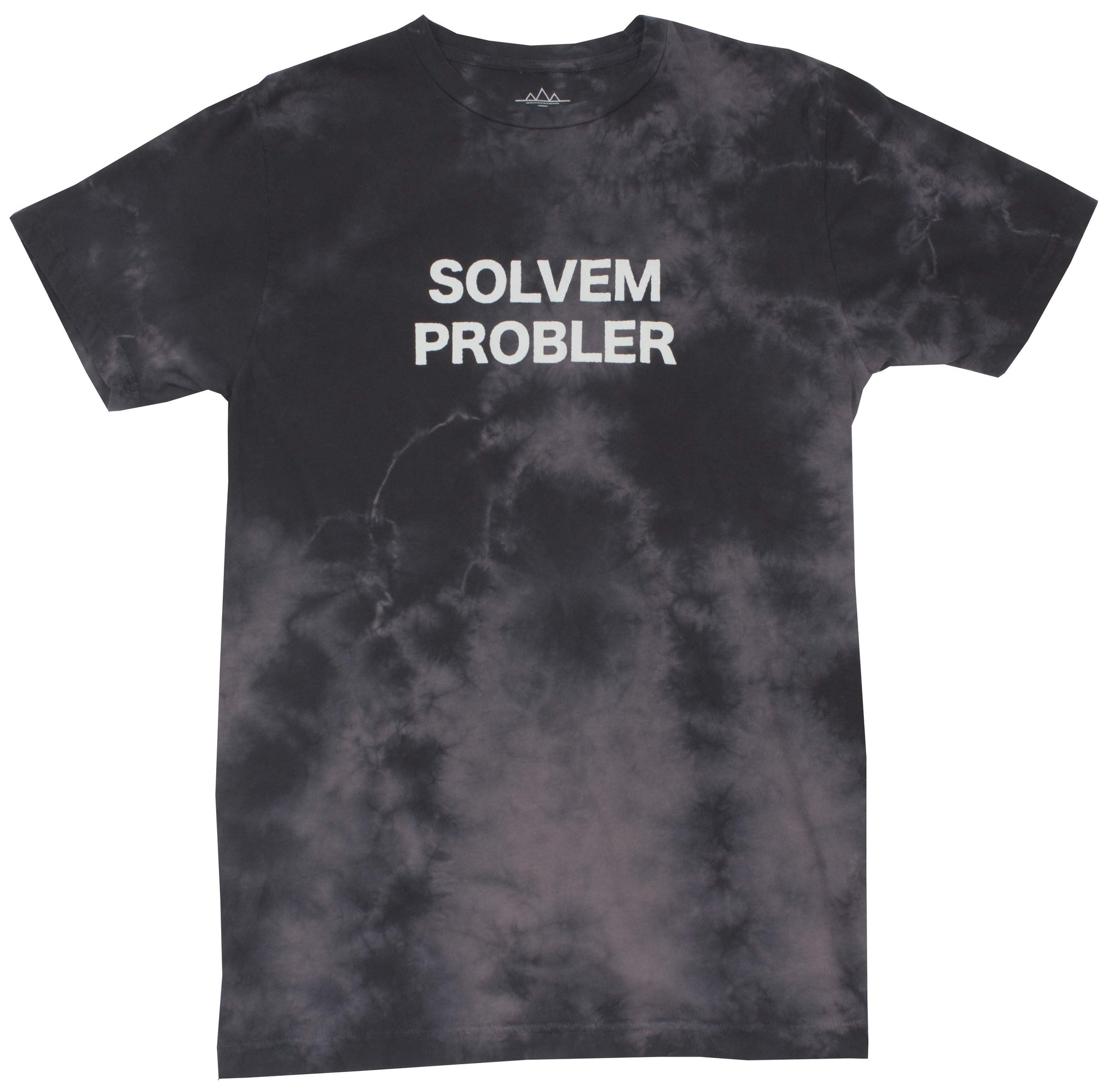 Funny Solvem Probler Mens Black Graphic Tee by Altru Apparel front image