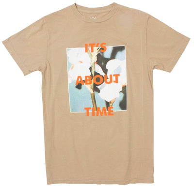 It's About Time Flowers khaki graphic tee by Altru Apparel