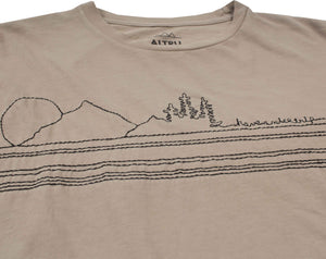 Have a Nice Trip embroidered mens khaki graphic tee by Altru Apparel detail image 1