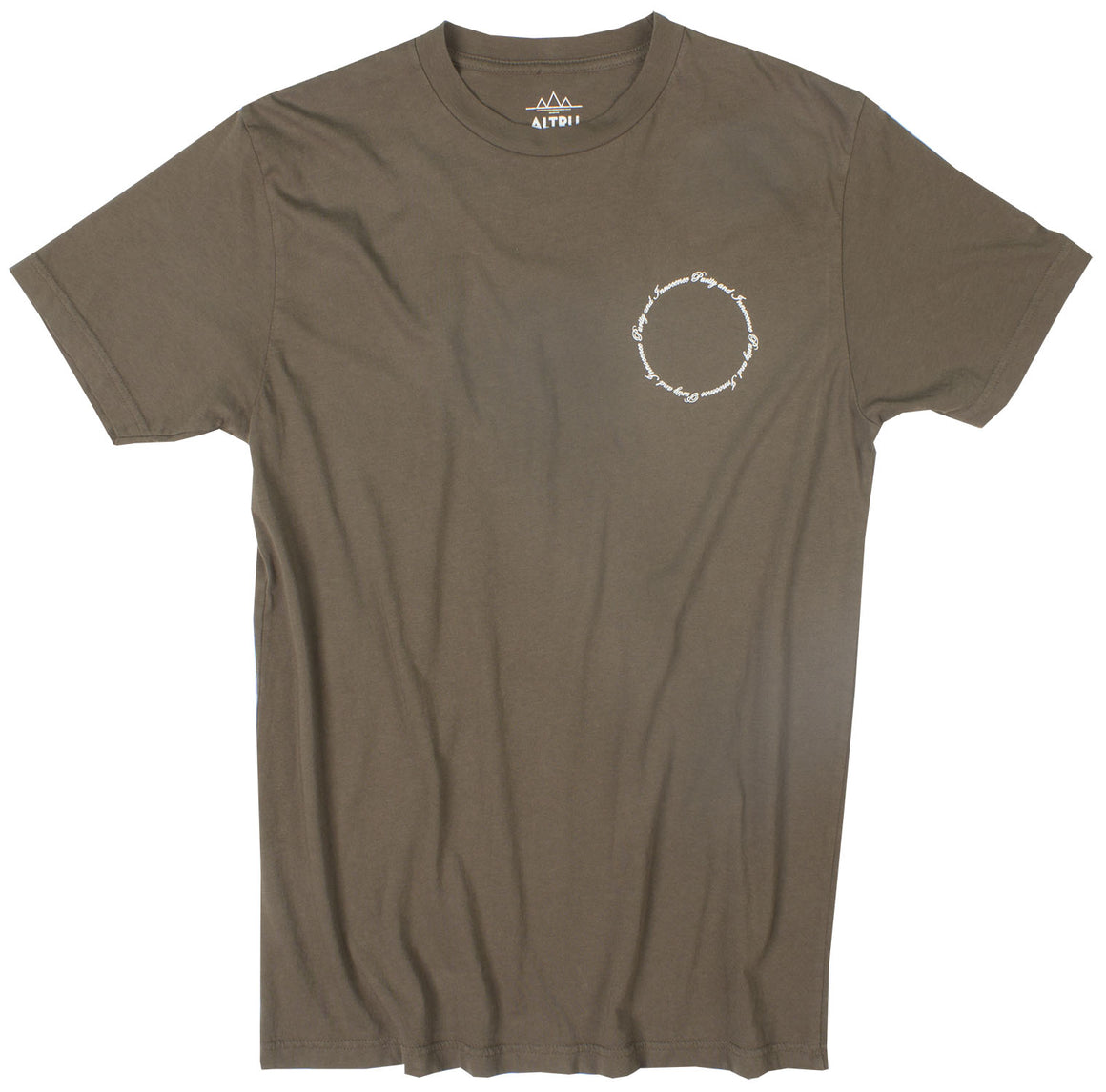 Purity and Innocence olive graphic tee