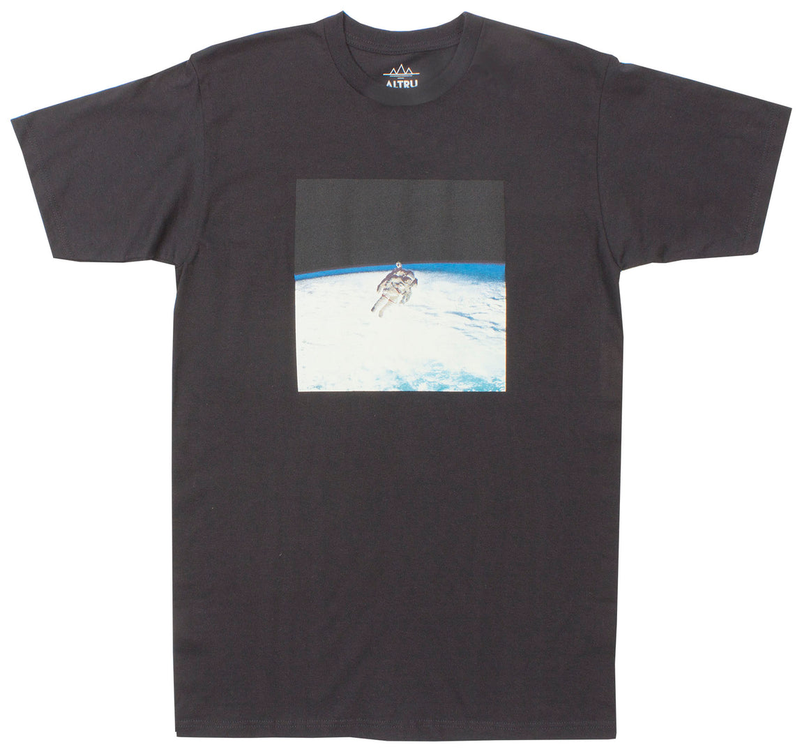 Space Views Black Graphic Tee by Altru Apparel
