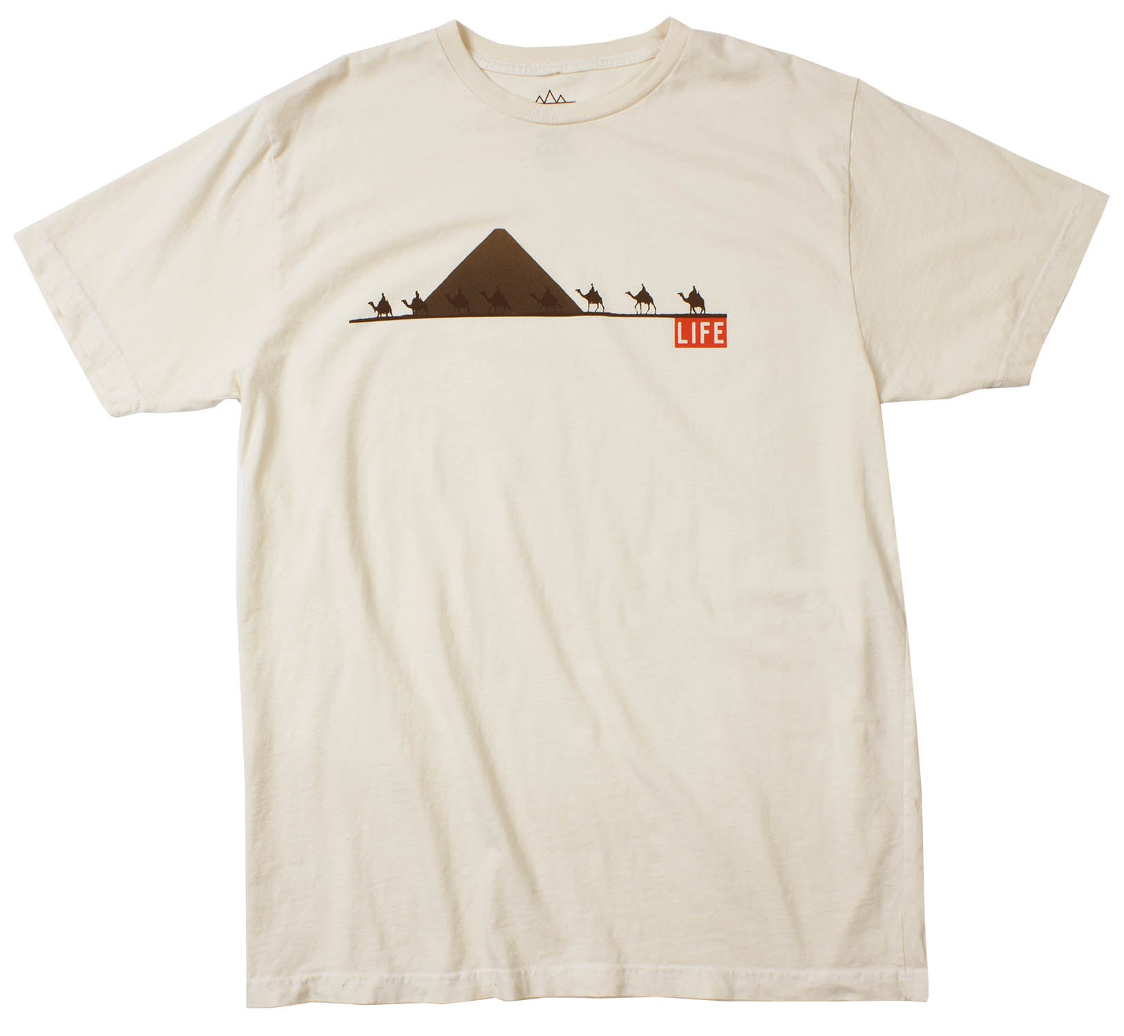 Life Camels Pyramids Men's Natural Graphic Tee by Altru Apparel