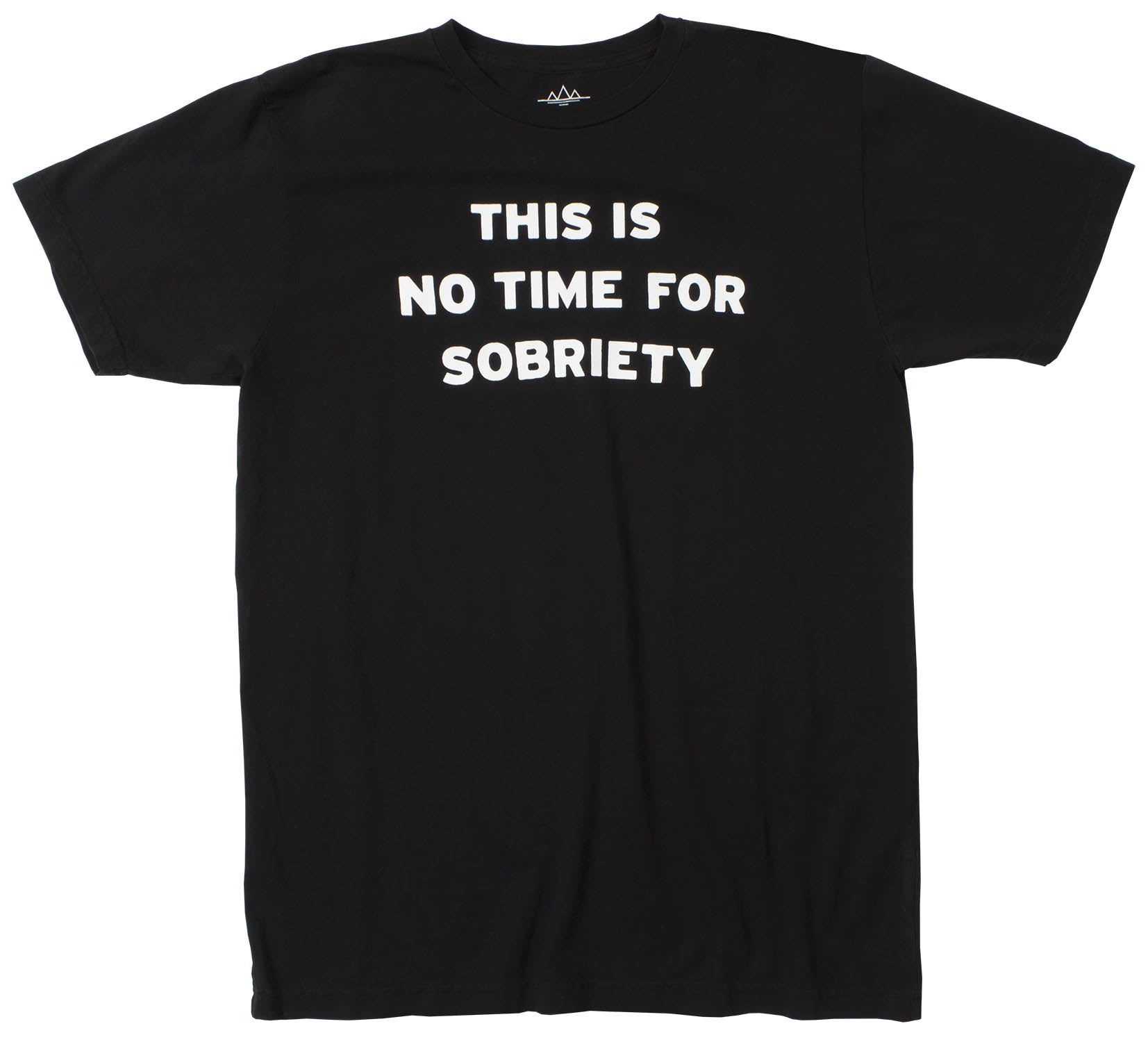 No Time For Sobriety Men's Funny Black Graphic Tee by Altru Apparel
