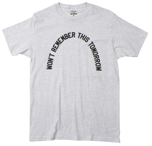 Won't Remember This Heather Grey Tee by Altru Apparel
