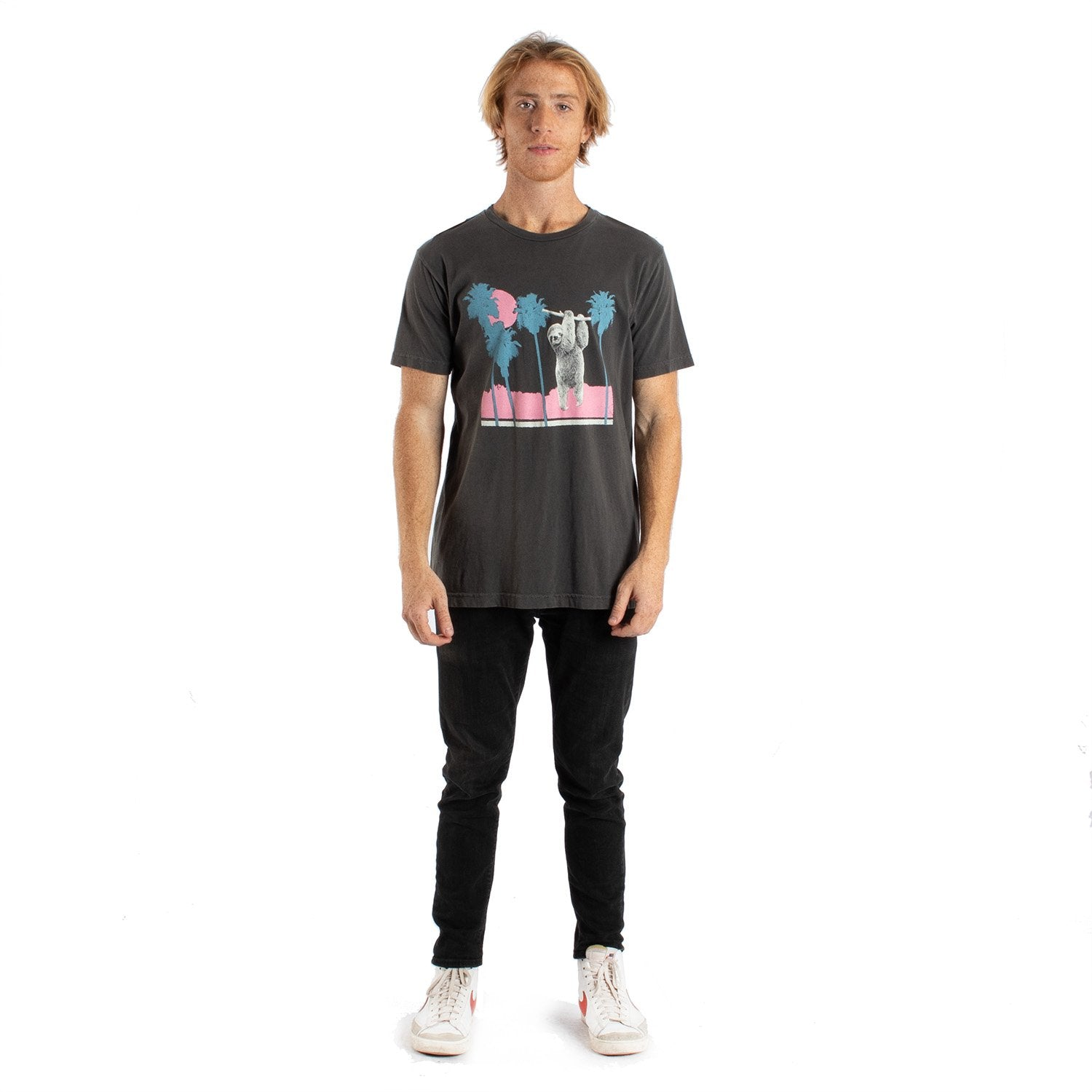 Altru Apparel Sloth Hang Palm Tree Tee