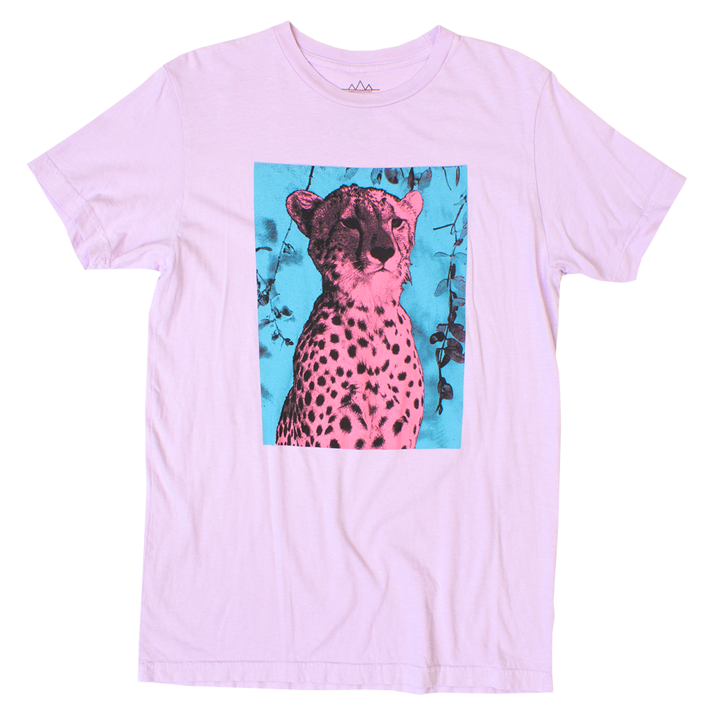PINK CHEETAH GRAPHIC TEE