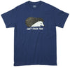 Can't Touch This Hedgehog blue graphic tee