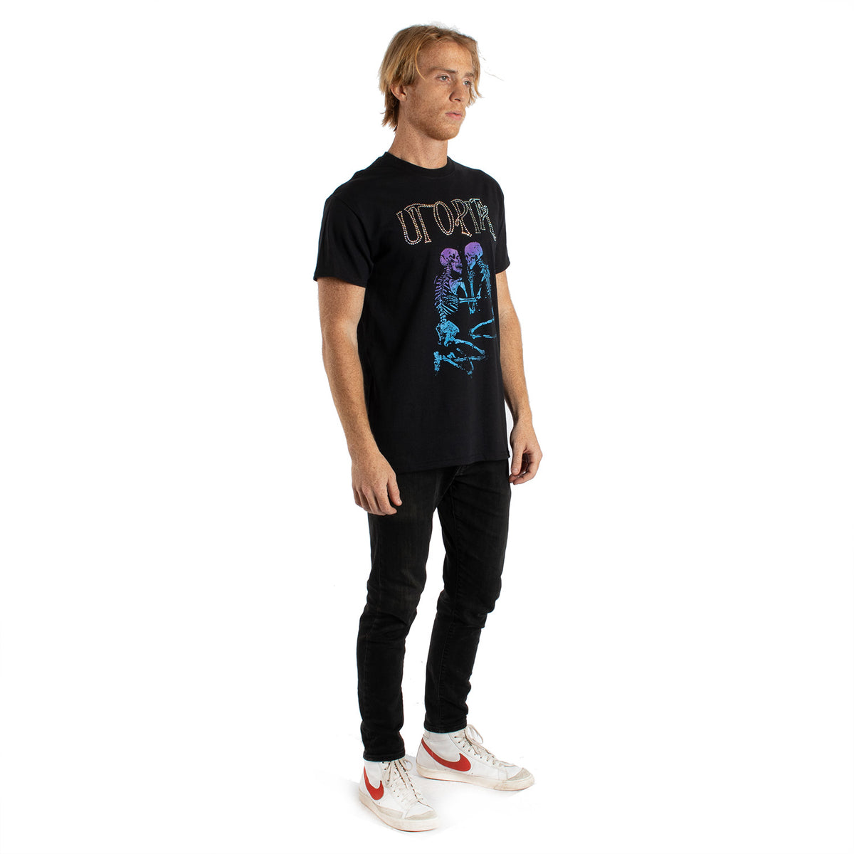 Altru Apparel Utopia lover skeletons rhinestone graphic tee