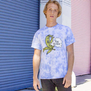 OG Kush Marijuana leaf cloud dye graphic tee