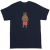 Good Time Martini Drinking Bear Navy Graphic Tee