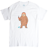 WORKOUT SLOTH MENS WHITE GRAPHIC TEE